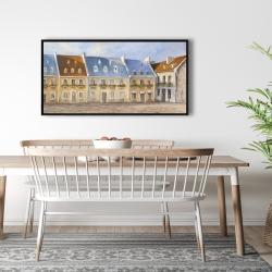 Framed 24 x 48 - Old quebec city