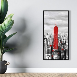 Framed 24 x 48 - Empire state building of new york