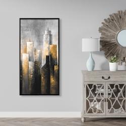 Framed 24 x 48 - Abstract skyline