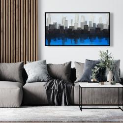Framed 24 x 48 - Blue city