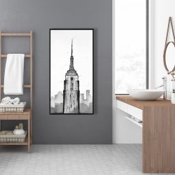 Framed 24 x 48 - Empire state building