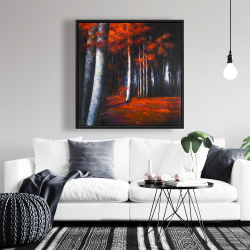 Framed 36 x 36 - Mysterious forest
