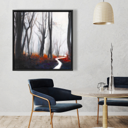 Framed 36 x 36 - Mysterious forest with stream