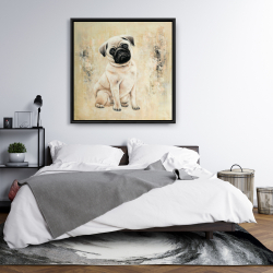Framed 36 x 36 - Small pug