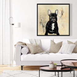 Framed 36 x 36 - French bulldog