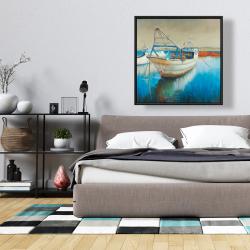 Framed 36 x 36 - Fishing boat