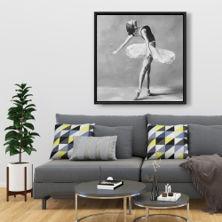 Framed 36 x 36 - Classic ballet dancer