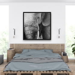 Framed 36 x 36 - Elephant