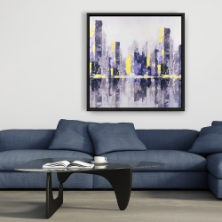 Framed 36 x 36 - Abstract and blurry city