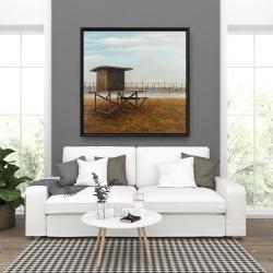 Framed 36 x 36 - Newport beach lifeguard tower