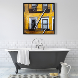 Framed 36 x 36 - Building old fire escape