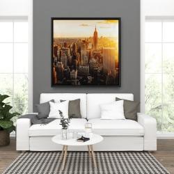 Framed 36 x 36 - New york city at sunset
