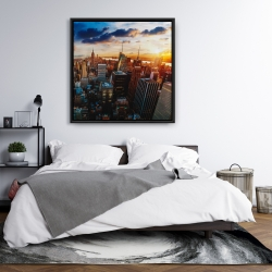 Framed 36 x 36 - City of new york by dawn