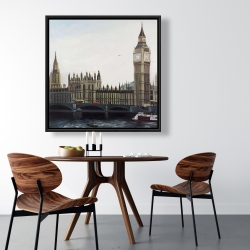 Framed 36 x 36 - Big ben clock elizabeth tower in london