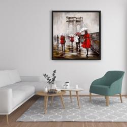 Framed 36 x 36 - Walk on the brooklyn bridge