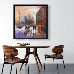 Framed 36 x 36 - City by fall