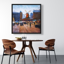 Framed 36 x 36 - Street scene to moulin rouge