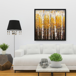Framed 36 x 36 - Birches by sunny day