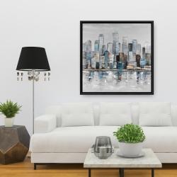 Framed 36 x 36 - Abstract urban skyline