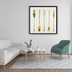 Framed 36 x 36 - Canoe paddles