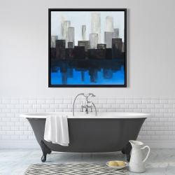 Framed 36 x 36 - Blue city