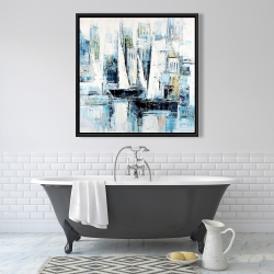 Framed 36 x 36 - Industrial style boats