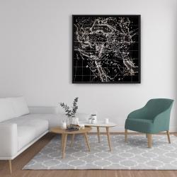 Framed 36 x 36 - Old maritime maps