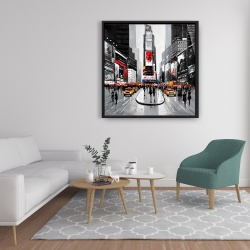 Framed 36 x 36 - New york city busy street