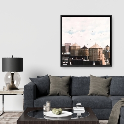 Framed 36 x 36 - Water towers