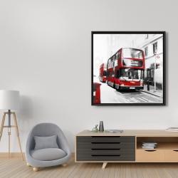 Framed 36 x 36 - Red bus londoner