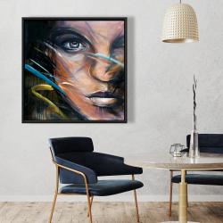 Encadré 36 x 36 - Visage de femme coloré
