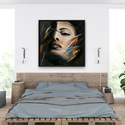 Encadré 36 x 36 - Portrait abstrait de femme