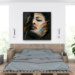 Framed 36 x 36 - Abstract woman portrait