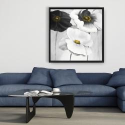 Framed 36 x 36 - Assorted white flowers