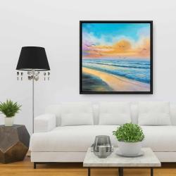 Framed 36 x 36 - Breathtaking tropical sunset