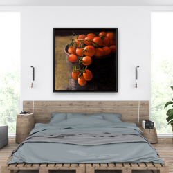 Framed 36 x 36 - Bucket of cherry tomatoes