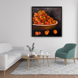 Framed 36 x 36 - Bowl of cherry tomatoes