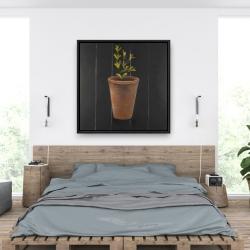 Framed 36 x 36 - Plant of marjolaine