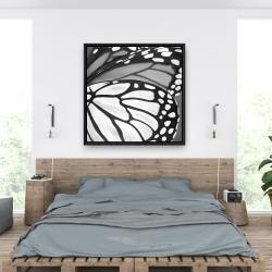 Framed 36 x 36 - Butterfly wings closeup