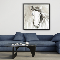 Framed 36 x 36 - Beautiful abstract horse