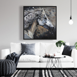 Framed 36 x 36 - Side of a wild horse