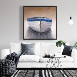 Framed 36 x 36 - Canoe boat