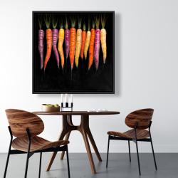 Framed 36 x 36 - Carrots varieties