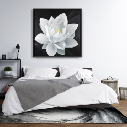 Framed 36 x 36 - Overhead view of a lotus flower