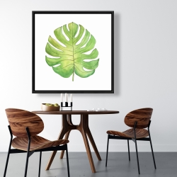 Framed 36 x 36 - Tropical leaf