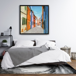 Framed 36 x 36 - Colorful houses in italy