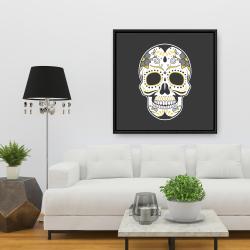 Framed 36 x 36 - Mexican sugar skull art
