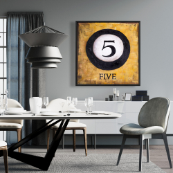 Framed 36 x 36 - Billiard ball no5