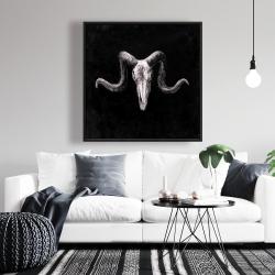Framed 36 x 36 - Skeleton skulls grunge style