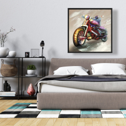 Framed 36 x 36 - Abstract motorcycle